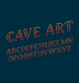 cave art alphabet stylish handwritten font vector image vector image