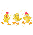 chicken funny cartoon vector image vector image