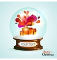 Christmas crystal ball with gifts vector image