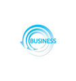 circle logo with arrows business logo design vector image vector image