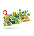 city map abstract town with pins vector image