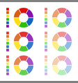 collection of rounded diagrams with spectral color vector image vector image