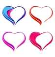 Colorful abstract hearts vector image
