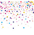 colorful round confetti frame isolated on vector image vector image
