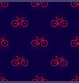 colorful seamless pattern with fix bike hipster vector image vector image