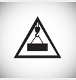 crane safety sign on white background vector image