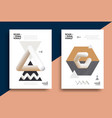 creative design poster with graphic geometric art vector image vector image