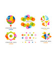 creative idea logo templates collection colorful vector image