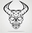 Demon Head vector image vector image