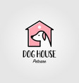 Dog house pet shop home logo icon design