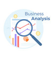 financial business analysis flat vector image vector image