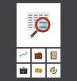 flat icon finance set of portfolio interchange vector image vector image