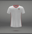 football kit of iran vector image