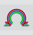 gambian flag rounded abstract background vector image