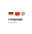 German as a second language Fluent speaking vector image vector image