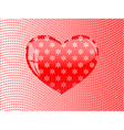 glass heart floral pattern vector image vector image