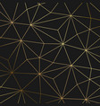 gold black background with luxury geometric vector image
