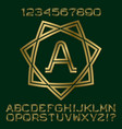 golden letters numbers initial monogram in star vector image vector image