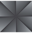 Gray and black folded paper triangles background vector image