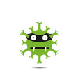 green coronavirus monster vector image vector image