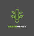 green office logo vector image vector image