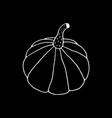 hand drawn pumpkin drawing vector image vector image