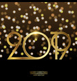 happy new year and christmas card vector image vector image