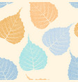high detail skeleton leaf seamless pattern vector image vector image