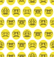 Hipster smiley seamless pattern1 vector image vector image