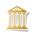 historical building golden vector image
