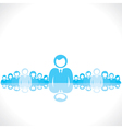 lead the people of your whole team vector image vector image