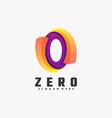 logo zero gradient colorful style vector image vector image