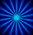 Modern card with halftone sun rays vector image