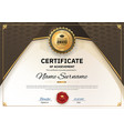 official white certificate of appreciation award vector image