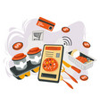 online buying food delivery in time vector image