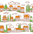 pattern with Houses vector image
