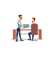 people work in office vector image vector image