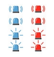 police flasher siren set vector image vector image