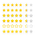 rating five stars set vector image vector image