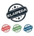 Round Klaipeda city stamp set vector image vector image
