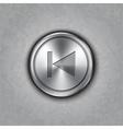 round metal backward rewind button vector image vector image