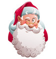 santa claus head winks merry christmas fun vector image vector image