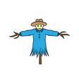 scarecrow hand drawn sketch design vector image