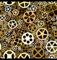 seamless background of bronze gears wheels vector image vector image