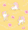 seamless pattern background with unicorn vector image vector image
