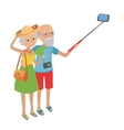 Senior couple makes selfie vector image vector image