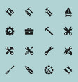set of 16 editable tool icons includes symbols vector image vector image