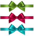 Shiny satin ribbon on white background vector image