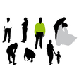 Silhouettes of the people vector image