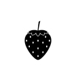 strawberry icon vector image vector image